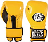 CLETO REYES Training Gloves with Hook and Loop Closure for Man and Women (16oz, Brilliant Yellow)
