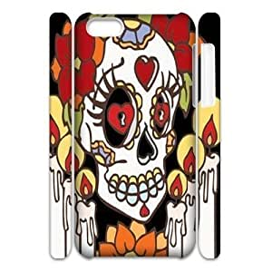 diy phone casediy 3D Case Cover for ipod touch 4 - Sugar Skull Day of the Dead Hard case 3diy phone case
