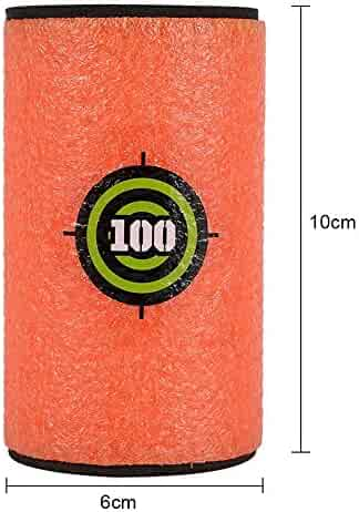 BOROLA 4inches Foam Target for Nerf N-Strike Blasters Bullet Dart - 6Pcs