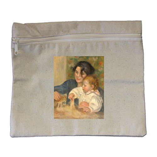 Gabriel And Jean (Renoir) Canvas Zippered Pouch Makeup ()