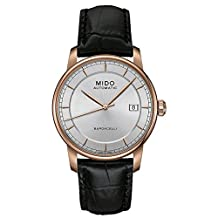 Mido Baroncelli II Automatic Silver Dial Black Leather Mens Watch M86003104