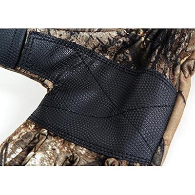 HNA Peak Men's Outdoor Sports Fishing Hunting Waterproof Camouflage Slit Finger Gloves