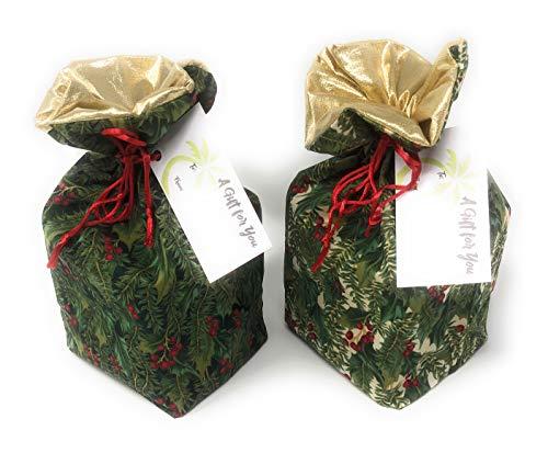 Holiday Holly Fabrics - Reusable 4