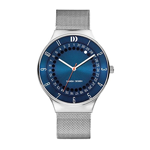 Danish Design IQ68Q1050 Mesh Stainless Steel Band Blue Dial Men's Watches