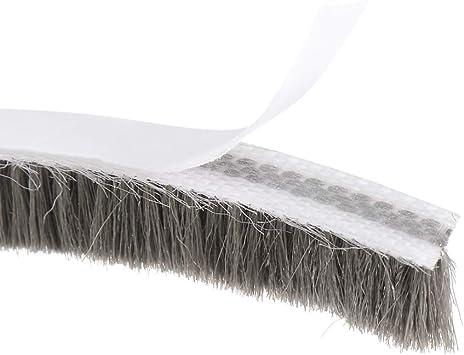 Gray Adhesive Felt Door Seal Strip Weatherstrip Door Sweep Brush for Door Window 590.6Inch L X 0.9 Inch W uxcell Brush Weather Stripping 15000mm X 23mm