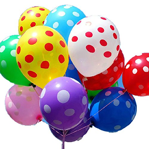 100 Pcs Polka Dot Balloons Latex Birthday Party Balloons Festival Decoration 12 Inches 10 Colors
