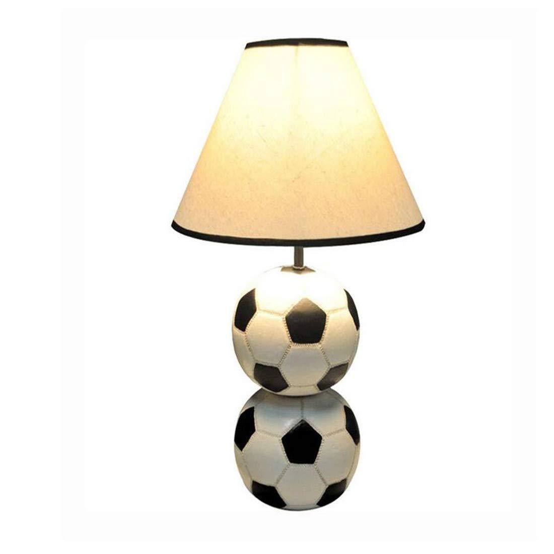 Moderne Kronleuchter Scheinwerfer Harz Fußball Schreibtischlampe Licht Handgewebte Lampenschirm Tischlampen