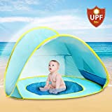 Kiddie Beach Tent Portable Infant Baby Pop up Pool Baby UV Protection Sun Shelter with Ultra Light Carry Bag