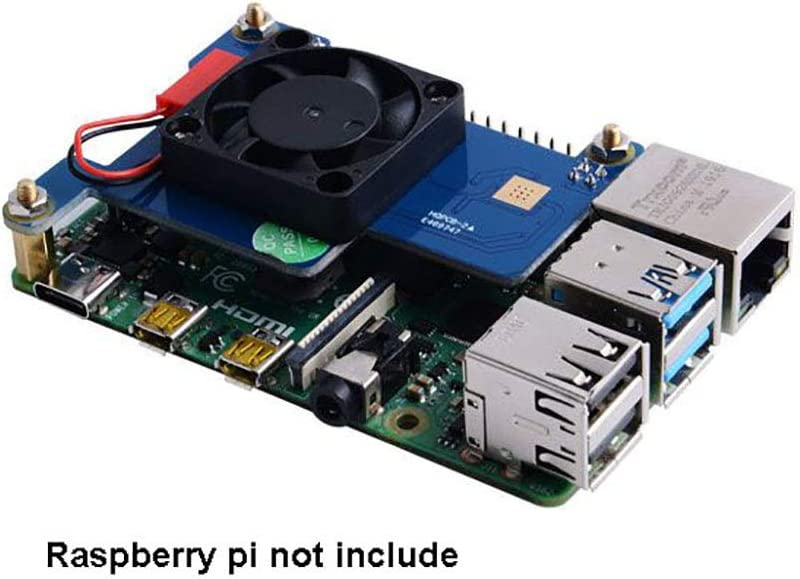 Iunius Power-Over-Ethernet Built-in Cooling Fan Support IEEE 802.3af or 802.3at PoE Standard HAT for Raspberry Pi 4B//3B PoE