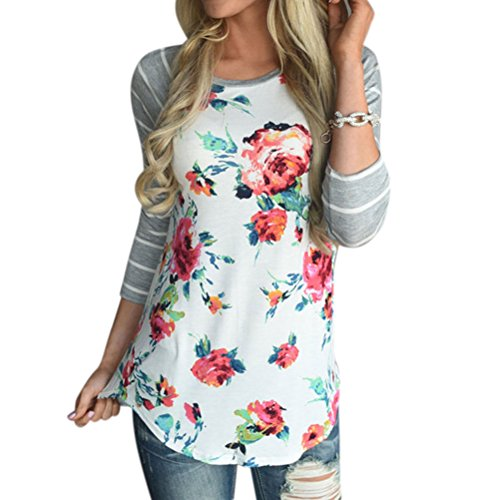 zxzy-women-bohemian-crew-neck-striped-3-4-sleeve-floral-print-shirt-blouse-tops