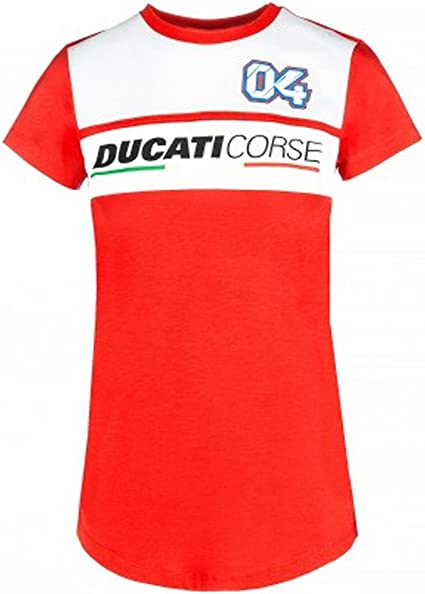 Ducati Corse Andrea Dovizioso 04 Moto GP Panel Rojo Mujer Camiseta ...