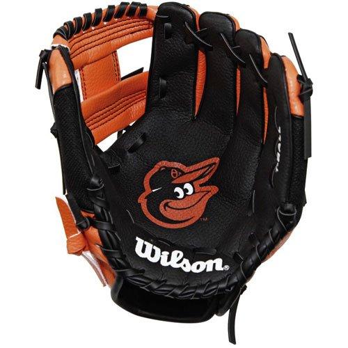 Wilson WTA02RB18COL Baltimore Orioles Glove, Left Hand, 10'', Black/Orange