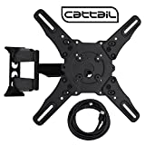 Cattail CTL-T-02 TV Wall Mount for 32-55 Inch Plasma, LED, LCD TV, With Full Motion Swing Out Tilt and Swivel Articulating Arm ,VESA 400400mm, Loading Capacity 88 lbs, Includes 4.9 ft HDMI cable