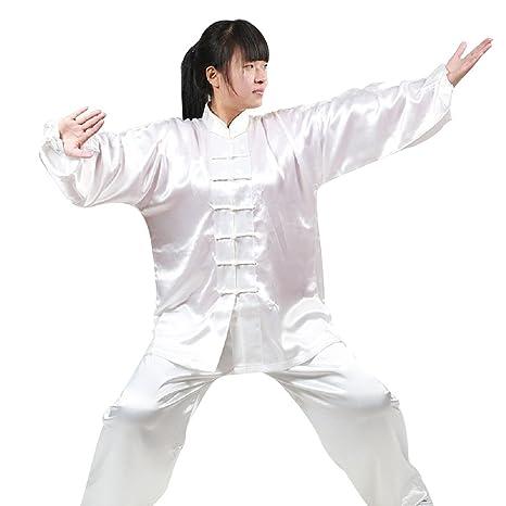 678080f44 Amazon.com : Kongfu Taichi Shaolin Kung Fu Uniform (White, Height:63 ...
