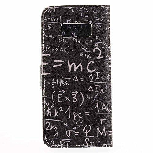 Funda Samsung Galaxy S8,Funda Libro Suave PU Leather Cuero impresión- EMAXELERS Carcasa Con Flip case cover,Funda Galaxy S8 gofrado diseño afortunado del trébol Flip case cover,wallet Case para Galaxy A Formula