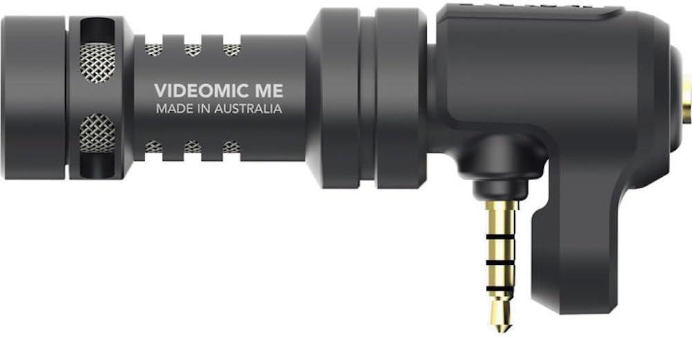 Rode VideoMic Me - Micrófono Direccional para Apple iPhone and iPad, Jack 3.5 mm, Soporte Flexible, Negro