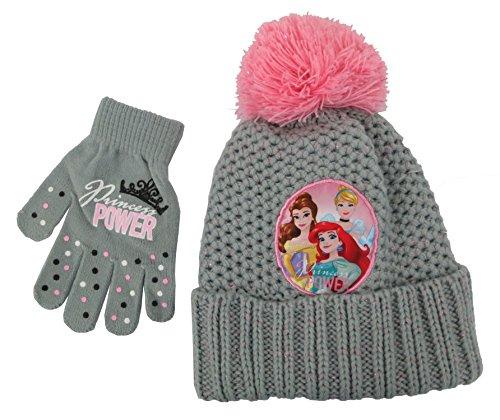 [Disney Princess Girls knitted Beanie Hat and Glove Set - Toddler [4013]] (Belle Toddler Gloves)