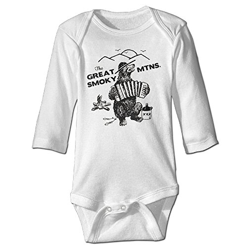 The Great Smoky Mountains Smokey The Bear Vintage Newborn Clothes Baby Kids Printing Baby Bodysuit Cotton Stretch Long Sleeve Baby Onesie