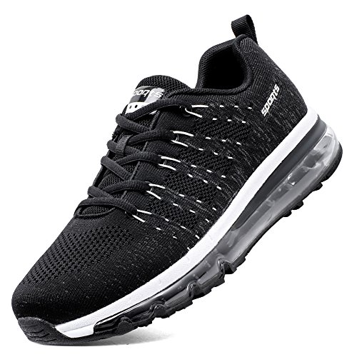 SKDOIUL Mens Sneakers mesh Breathable Sports Running Shoes air Cushion Youth Boys Tennis Shoes Size 11 (8067 Black 45)