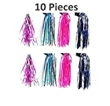 Good News 10 Pieces Bicycle Scooter Streamers Handlebar Ribbon Tassel for Girls and Boys Bike Decor, 9 Inches