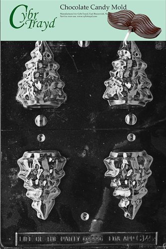 (Cybrtrayd Life of the Party C145 3D Tree  Chocolate Candy Mold in Sealed Protective Poly Bag Imprinted with Copyrighted Cybrtrayd Molding Instructions)