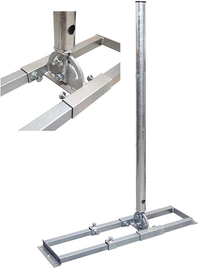 PremiumX Profi X100-48K SAT - Soporte para vigas de techo (100 cm, mástil de 48 mm, acero galvanizado, para antena parabólica con pasacables