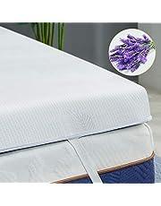 BedStory 5 cm traagschuim lavendel matrastopper
