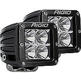 Rigid Industries 202113 LED Light (D-Series Pro, 3 Inch, Flood Beam, Pair, Universal), 2 Pack
