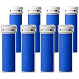 8-pack Extra Coarse Pedi Replacement Rollers Compatible with Emjoi Micro Pedi Callus Remover