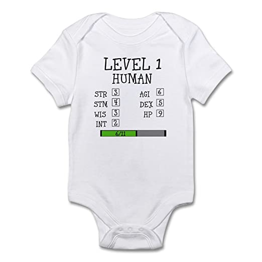 44d5e9e87 CafePress Level 1 Human Body Suit Cute Infant Bodysuit Baby Romper Cloud  White