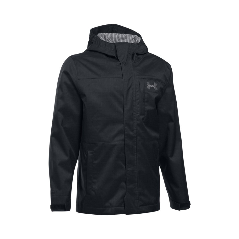Under Armour Boys' Storm Wildwood 3-in-1 Jacket, Black/Graphite, Youth Medium