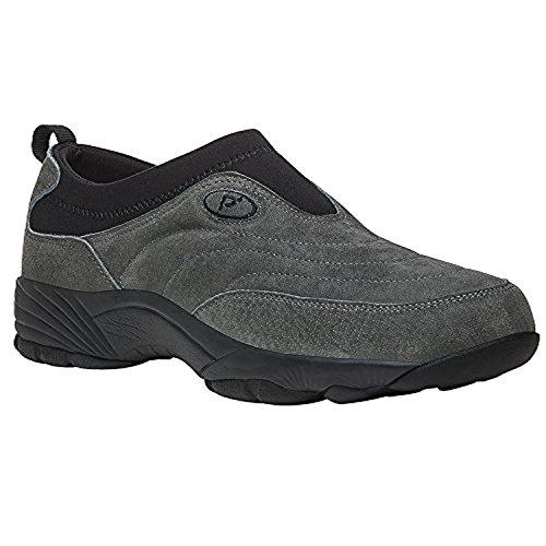 Propet Hombres Wash & Wear Slip-on Ii Suede Shoe Y Oxy Cleaner Bundle Peltre Suede