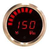 VEI Systems 150 PSI digital fuel pressure gauge (red/silver)