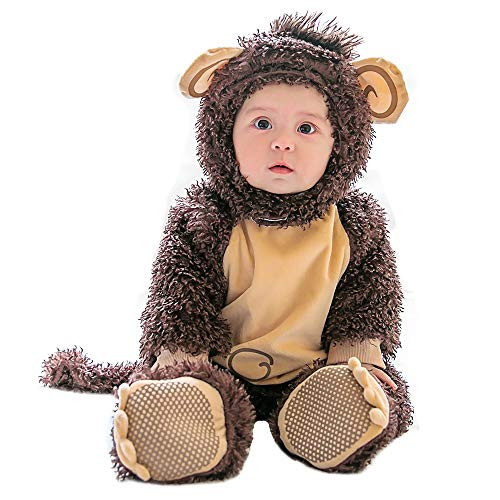 mikistory Infant Costume Baby Costume Baby Romper Set Baby Animal Costume Infant Hollowen Brown Monkey 11-15Months]()