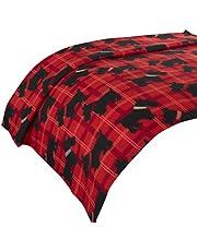 Dreamscene Scotty hond gooien deken, dier Print sprei, rood/zwart