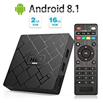 Android 8.1 TV Box - LIVEBOX HK1 Mini Android TV Box with 2GB RAM 16GB ROM Quad Core A53,Smart TVBox Supporting 4K (60Hz) Full HD/3D/H.265/WiFi 2.4GHz Media Player[2018 Version]