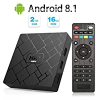 Android 8.1 TV Box - LIVEBOX HK1 Mini Android TV Box with 2GB RAM 16GB ROM Quad Core A53,Smart TV Box Supporting 4K (60Hz) Full HD/3D/H.265/WiFi 2.4GHz Media Player[2018 Version]