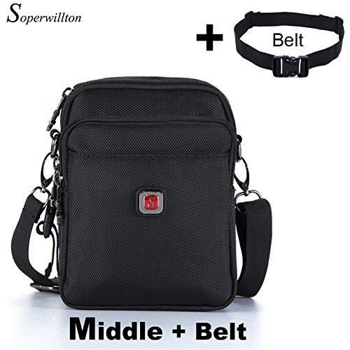 Agennix Store Brand Mens Bag Messenger Bag Waterproof Men Belt Bag Oxford 1680D Zipper Bag for Male #1052