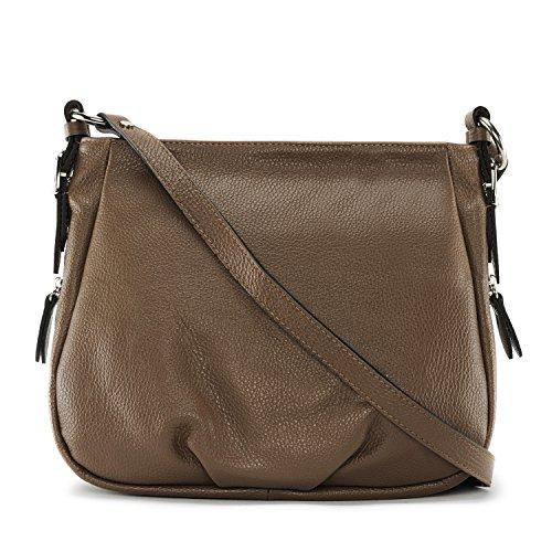 OH MY BAG Sac à main cuir femme - Modèle Rimbaud TAUPE FONCE