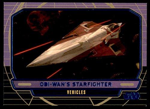 2012 Star Wars Galactic Files Blue Foil #252 Obi-Wan's Starfighter (Delta 7) /350 - NM-MT Delta 7 Starfighter