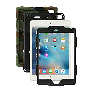 iPad Mini 4 Case, for Kids ACEGUARDER [Shockproof] [Heavy Duty] Full Body Protection Silicone Cover with Kickstand & Screen Protector for Apple iPad Mini 4 2015 (4th Generation)- Army Camouflage/Black
