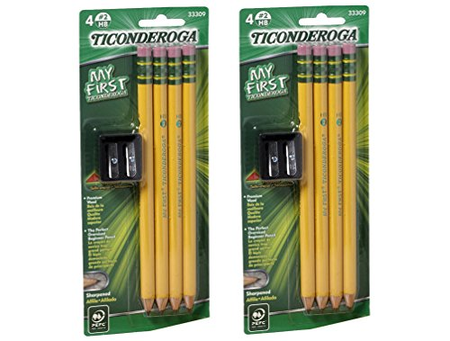 (Dixon Ticonderoga 33309 8 Count Large Size Pencil Kit With 2 Sharpeners)