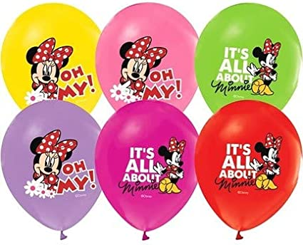 """24ct Disney Minnie Mouse Birthday Latex Balloons Party Supplies 12/"""""""