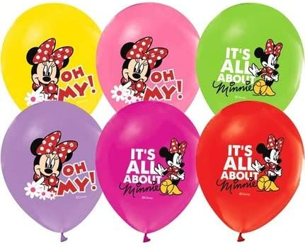 Minnie Mouse Balloons 12 Pixar Latex Party Supplies Birthday 1st