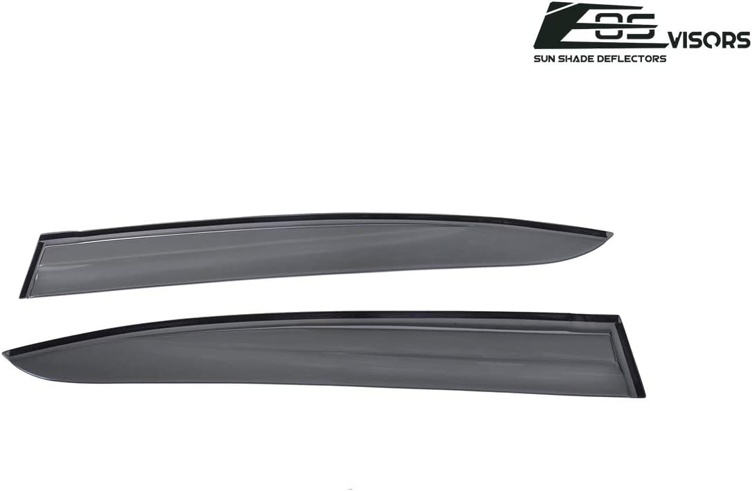 Extreme Online Store Replacement for 2006-2011 Honda Civic Sedan Models EOS Visors JDM Mugen ll Style Side Vent Window Deflectors Rain Guard DWV-V8