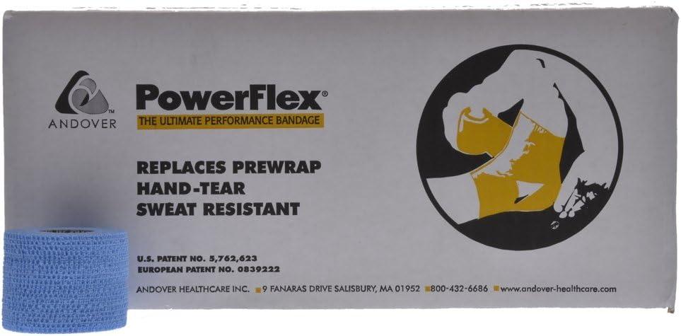 "Powerflex 2"" Stretch Athletic Tape - 6 Rolls, Light Blue"
