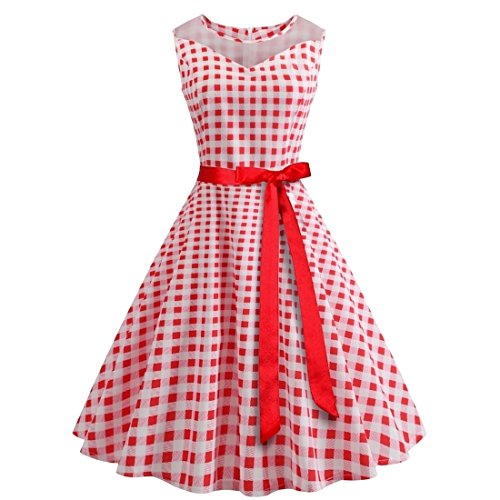 Stytle Pink High Everyday Plaid Coolred Women Party Rise Dress Slimple Mini TvEvBq