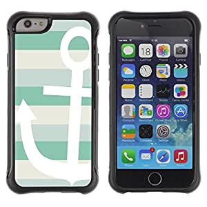 Suave TPU Caso Carcasa de Caucho Funda para Apple Iphone 6 / Boat Summer Sun Sailing Lines / STRONG