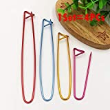 Sewing Leathercraft Tools & Supplies,dezirZJjx Stitch Marker,4 Sizes Aluminum Knitting Crochet Craft Locking Stitch Marker Needle Clip Holder - Random Color