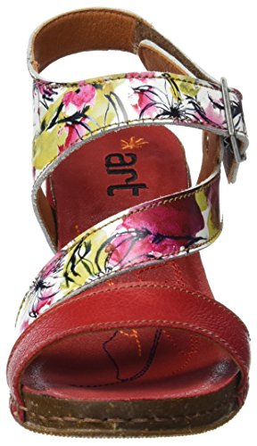 Art 0211f Fantasy I Feel, Sandalias con Tira de Tobillo Para Mujer Multicolor (Flowers)